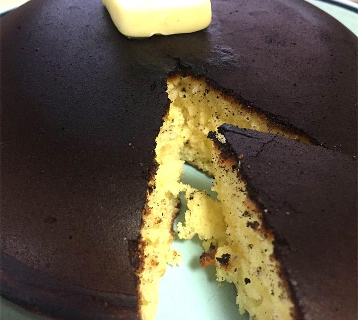 cake 02re - ほろ酔いでホットケーキを作ったら