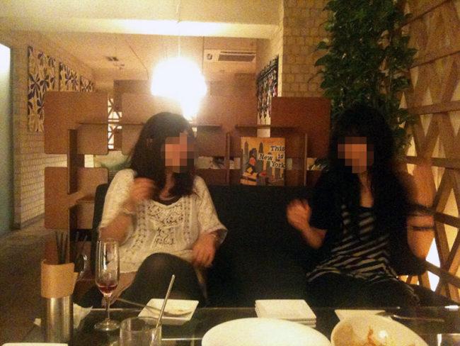 jyosi nomi 650x488 - 【国立】レズの女性二人と夜のまったり飲み会