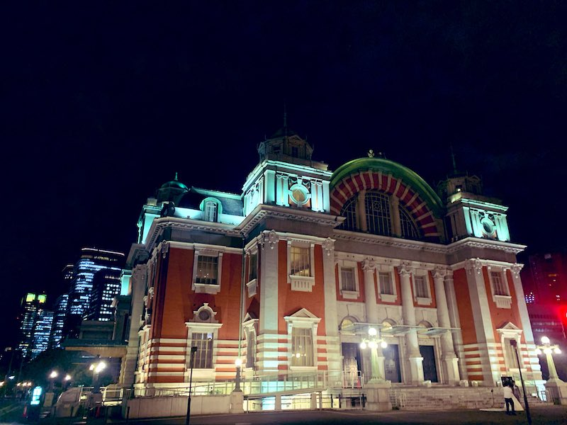 osaka job syuttyou 1 - 京都出張から大阪出張へ夜の大阪城まで散歩