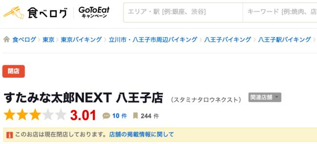 tabelog 650x296 - 東京八王子のすたみな太郎が閉店!地元民おすすめの焼肉店は?