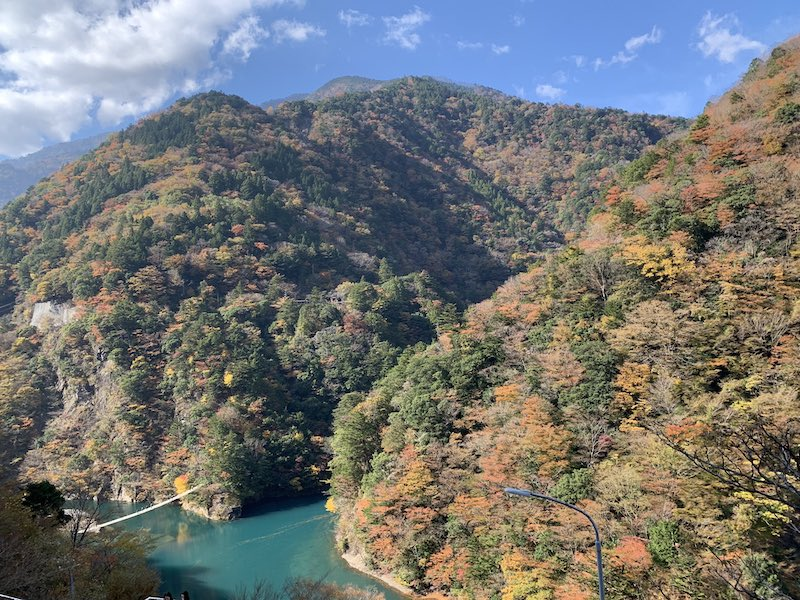 tuketikyou sizuoka3 - 寸又峡紅葉散歩とさわやかハンバーグ